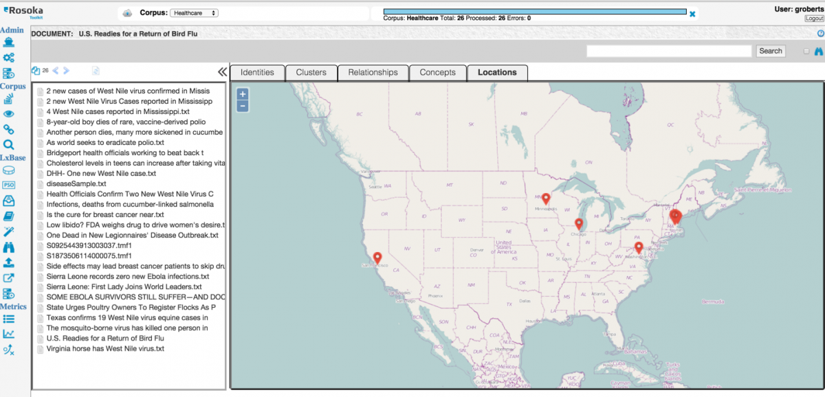 Geospatial analysis and natural language processing software work together to eliminate national security threats