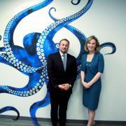 Rosoka CEO Greg Roberts with Rep. Barbara Comstock